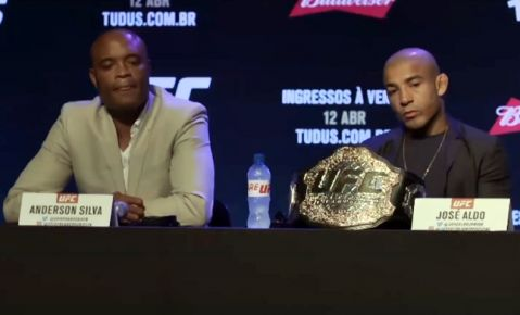Anderson Silva sends an emotional message to Aldo