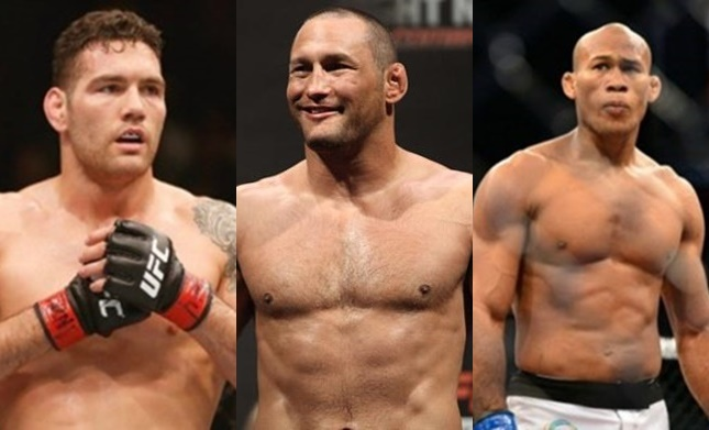Weidman and Jacare fourious Henderson is fighting for the title