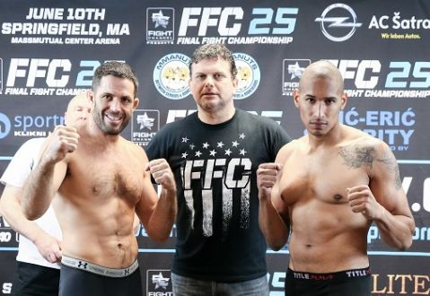 FFC 25 Springfield weigh-in took place this Thursday at MassMutual Center