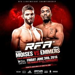 RFA 38 gets new headliner Thiago Moisés vs. Jamall Emmers; E.J. Chavez withdraws