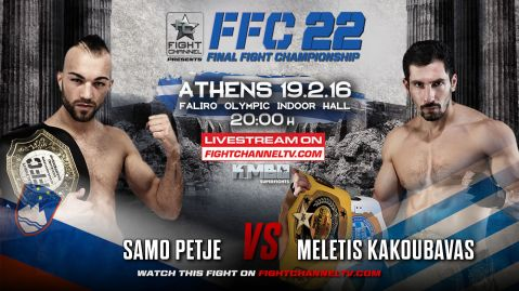 FFC 22 Athens: Samo Petje defends his title against Meletis Kakoubavas! (VIDEO)