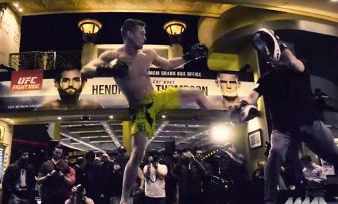 UFC Fight Night 82: Stephen Thompson Workout Highlights (VIDEO)