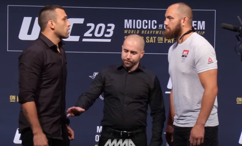 UFC 203: Fabricio Werdum vs. Travis Browne Staredown (VIDEO)