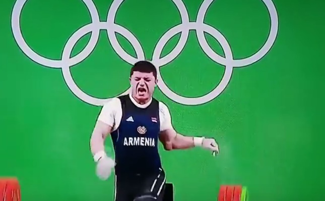 Horror injury ends Armenian weightlifter's Olympic dream