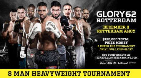 GLORY 62 ROTTERDAM: Eight-Man Heavyweight Tournament Draw Results