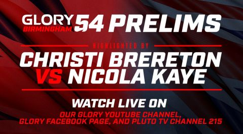 GLORY 54 Prelims Feature Five Fights Highlighted by Christi Brereton vs. Nicola Kaye