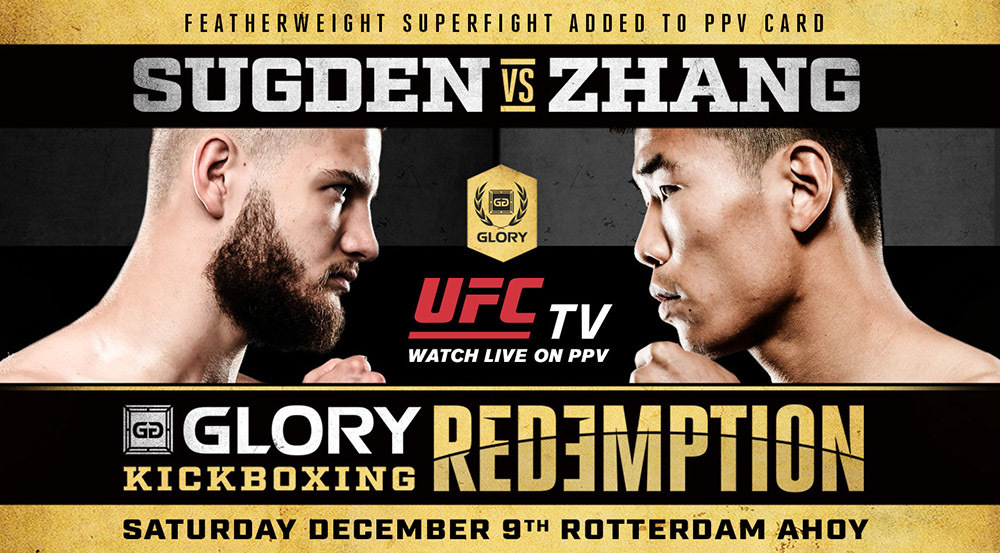 Bailey Sugden Vs Chenglong Zhang Elevated To Ppv Bout At Glory