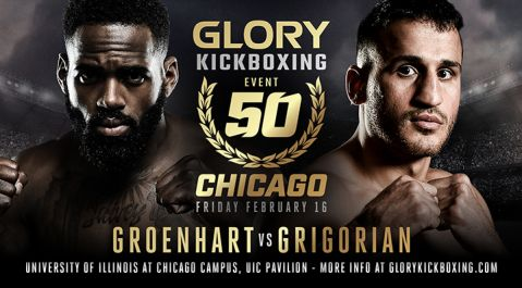 Murthel Groenhart vs. Harut Grigorian Trilogy Fight Headlines GLORY 50 Chicago