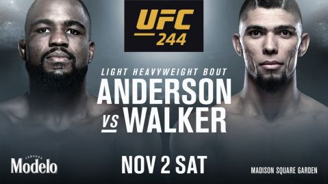 Anderson v Walker confirmed for UFC 244
