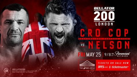 Mirko Cro Cop vs. Roy Nelson added to Bellator 200 in London