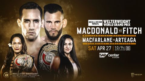 Bellator returns to SAP Center at San Jose, April 27 with two world title fights
