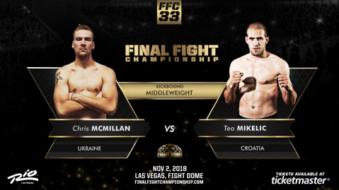 Kickboxing Stars Clash at FFC 33 Nov. 2 at Fight Dome Las Vegas