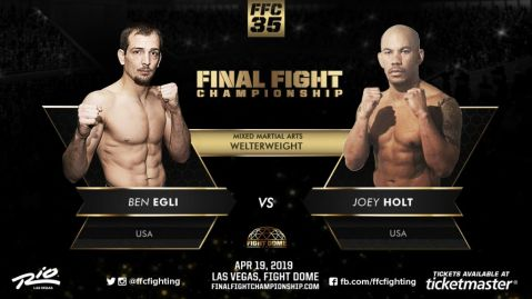 Ben Egli vs. Joey Holt set for main event title bout at FFC 35