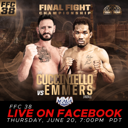FFC 38 TO BE SHOWN LIVE WORLDWIDE ON FACEBOOK THIS THURSDAY!