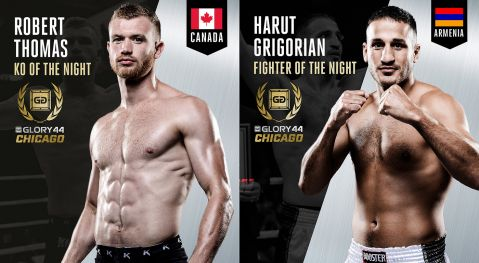 Grigorian and Thomas win performance awards at GLORY 44 CHICAGO