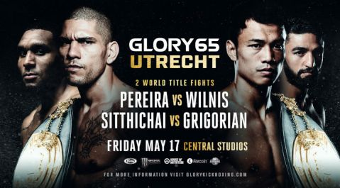 Pereira, Sittichai title fights headline GLORY 65 Utrecht on Friday, May 17