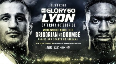 Harut Grigorian Travels to France for Welterweight World Title Tilt Against Former Champion Cédric Doumbé at GLORY 60 Lyon