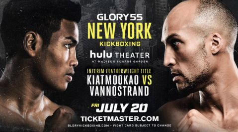 Interim Featherweight Champion to be Crowned When Kevin Vannostrand Meets Petchpanomrung Kiatmookao at GLORY 55 New York