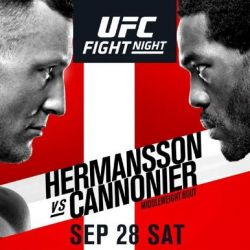 UFC Fight Night: Hermansson vs Cannonier results