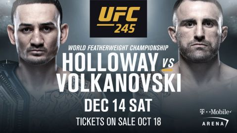 Holloway v Volkanovski confirmed for UFC 245