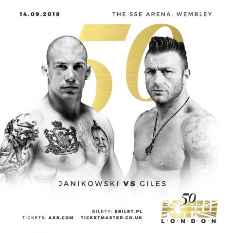 Damian Janikowski vs. Tony Giles set for KSW 50
