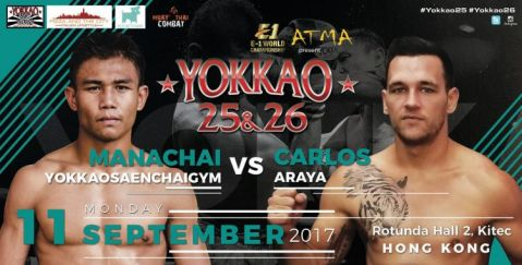 Manachai's opponent for YOKKAO 25-26 Hong Kong announced!