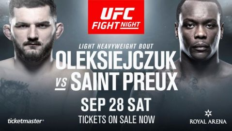 Oleksiejczuk vs. OSP added to UFC Fight Night Copenhagen