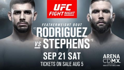 UFC Fight Night: Rodriguez vs. Stephens results