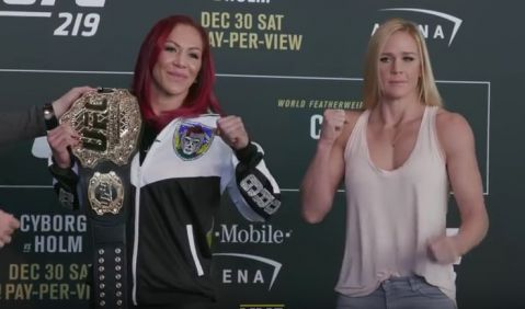 UFC 219 Media Day Staredowns
