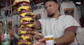 Frank Mir Tackles 20,000 Calorie Burger at Heart Attack Grill in Las Vegas!