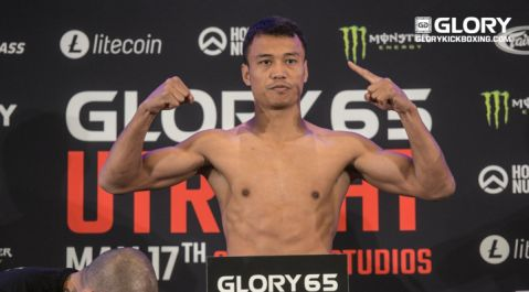 ALL FIGHTERS ON WEIGHT AT OFFICIAL GLORY 65 UTRECHT WEIGH INS