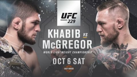 UFC 229: Khabib vs. McGregor official fight card