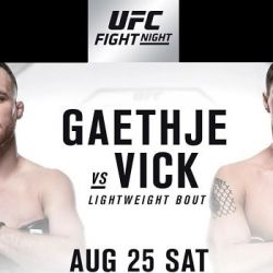 UFC Fight Night: Gaethje vs. Vick fight card
