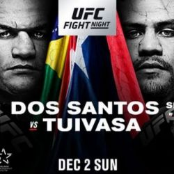 UFC Fight Night: Dos Santos vs. Tuivasa fight card