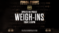 FFC 34 Weigh Ins Today 6 PM at Fight Dome