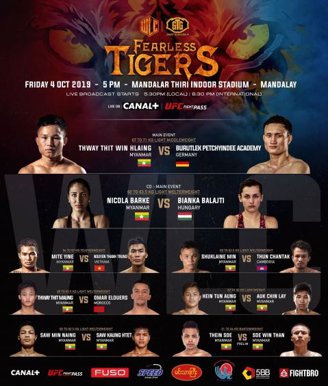 Full card announced for WLC: Fearless Tigers