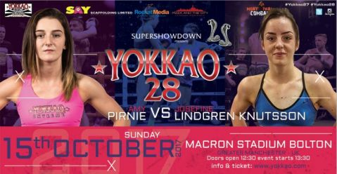 "Amy Pirnie faces Josefine ""Little Thunder"" Lindgren Knutsson at YOKKAO 28!"