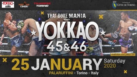 YOKKAO 45 – 46 returns to Turin on 25 January 2020!