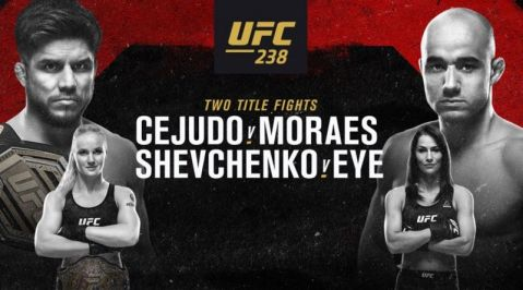 UFC 238 Results: Cejudo Stops Moraes To Clinch Second UFC Title