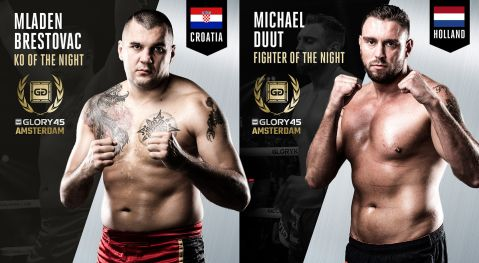 Duut and Brestovac win GLORY 45 fight night awards