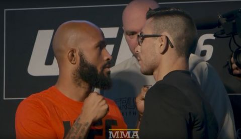 UFC 216: Ferguson vs. Lee media day staredowns (VIDEO)