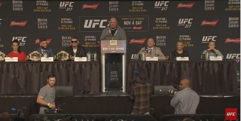 UFC Pre-fight Press Conference (VIDEO)