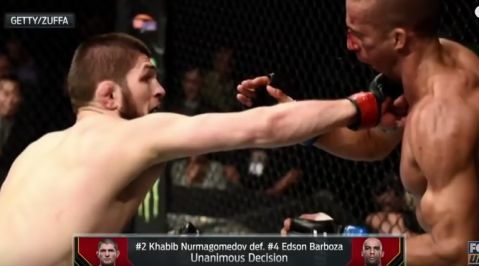 Khabib Nurmagomedov vs Edson Barboza breakdown and highlights (VIDEO)