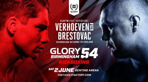 Genting Arena Hosts GLORY 54 Birmingham on Saturday, June 2 Headlined by Rico Verhoeven vs. Mladen Brestovac