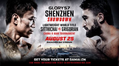 Sitthichai vs. Marat Grigorian Scheduled for Fourth Meeting at GLORY 57 Shenzhen