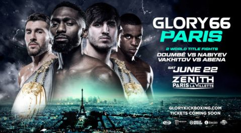 GLORY 66 PARIS to feature three world title fights