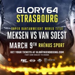 Super bantamweight title to be defended at Glory 64 Strasbourg