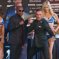 Floyd Mayweather vs. Conor McGregor Final Press Conference Staredown
