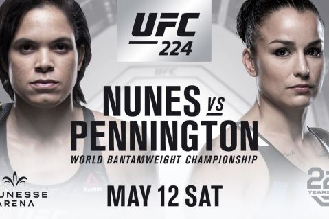 UFC 224: Nunes vs. Pennington fight card