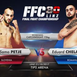FFC first two-weight division champ Samo Petje drops FFC welterweight belt ahead of his catchweight superfight with Eduard Chelariu at FFC 30 Linz